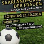 Saarlandpokal Frauen 21. Oktober