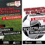 Heimspieltag 3. November